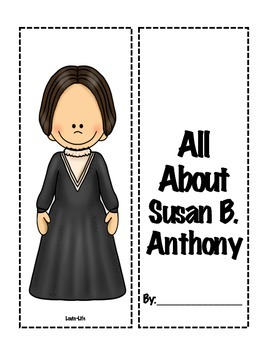 4th Grade (NEW GSE) Social Studies Susan B. Anthony Lapbook