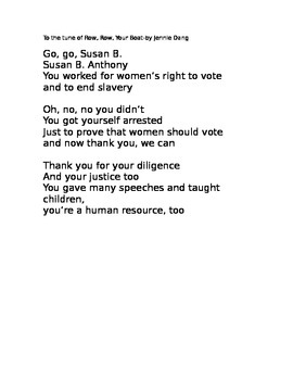 Susan B. Anthony Poem