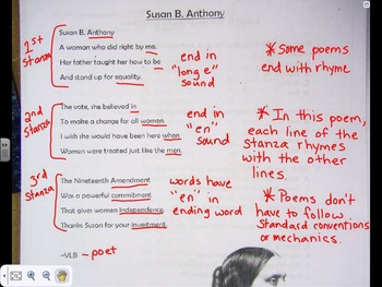 Susan B. Anthony Poetry Packet