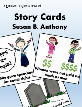 Susan B. Anthony Story Cards