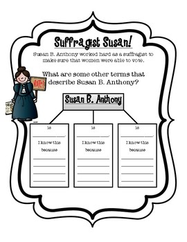 Susan B. Anthony Student Activity Pack/Mini Unit