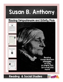 Women's History Month Susan B. Anthony Reading Comprehensi