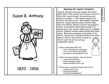Susan B. Anthony Tabbed Flip Book