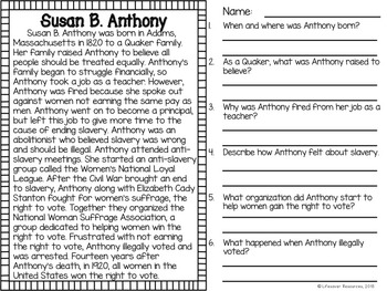 Learn About Susan B. Anthony - TeacherVision