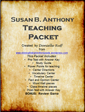 Susan B. Anthony Teaching Packet REVAMPED!!!