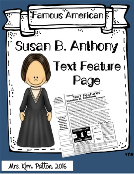 Susan B. Anthony Text Features Page