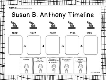 Historical Heroes: Susan B. Anthony | Worksheet | Education.com