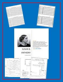 Susan B. Anthony Vocabulary Bundle