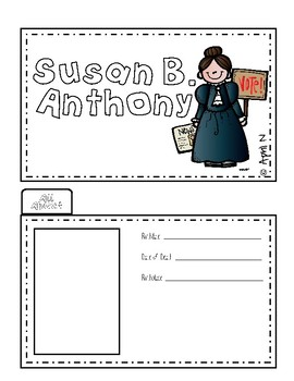 Susan B. Anthony Writing Tab Book