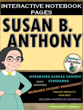 Susan B. Anthony's Interactive Notebook Pages
