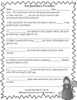 Susan B. Anthony's Language Review {Common Core Language Arts Practice}