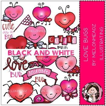 Susana's Lovebug by Melonheadz BLACK AND WHITE