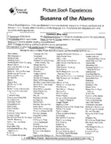 Susanna of the Alamo Literature Guide