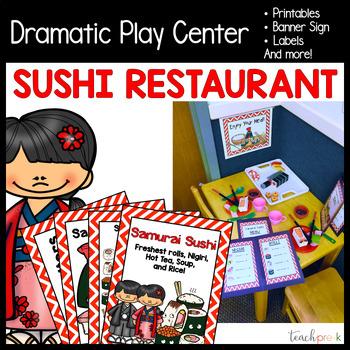 Sushi Restaurant Dramatic Play Set