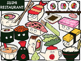 Sushi Restaurant (Digital Clip Art)