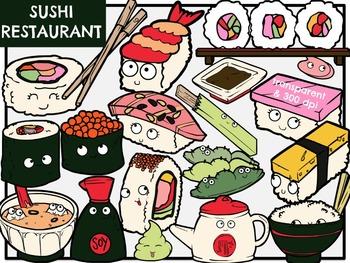 Sushi Restaurant (Digital Clip Art)