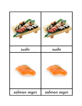 Sushi - Three Part Cards