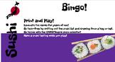 Sushi Vocabulary Bingo and SMARTboard Food Selector; Culinary, FACS