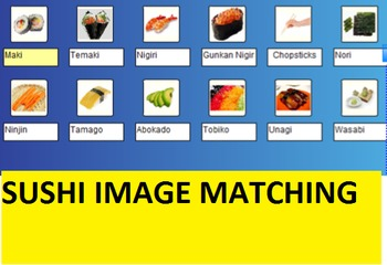 Sushi Vocabulary Bingo and SMARTboard Food Selector; Culinary, FACS