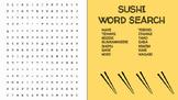 Sushi Word Search; FACS, Culinary Arts, Bellringer, Japanese, Language