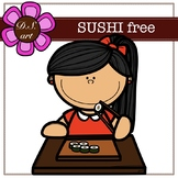 Sushi free Digital Clipart (color and black&white)