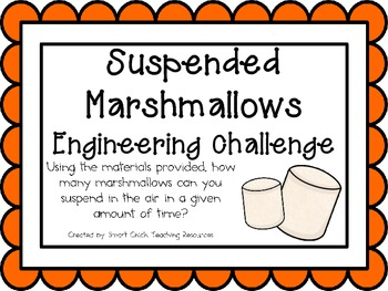 Suspended Marshmallows: Engineering Challenge Project ~ Great STEM Activity!
