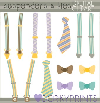 Suspenders and Ties Clip Art