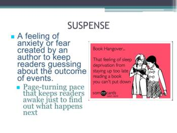 Suspense: Characteristics, Techniques, & Elements