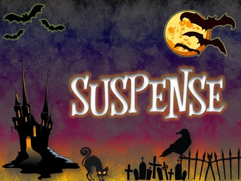 Suspense Resource Bundle: PowerPoint, Practice, Gr.Orgs, Assessment