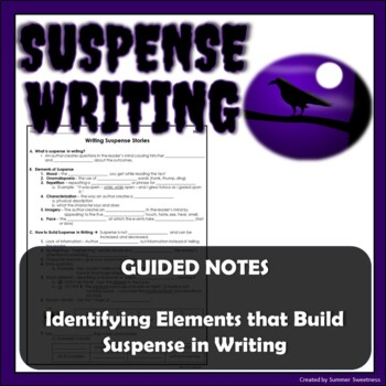 Suspense Writing Guided Notes