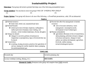 sustainability topics for research papers