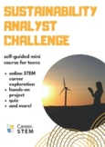 Sustainability STEM Challenge (Earth Day distance learning