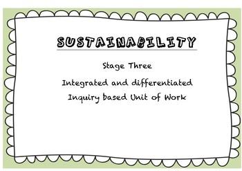 Sustainability Unit of Work - Stage 3