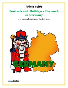 (EUROPE GEOGRAPHY) Festivals and Holidays - Research in Germany