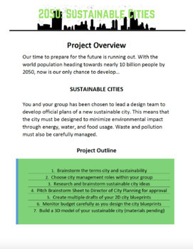 2050: Sustainable Cities (PBL City Design Project)