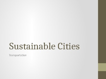 Sustainable Cities Presentation