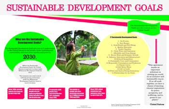 Sustainable Development Goals: Infographic Poster