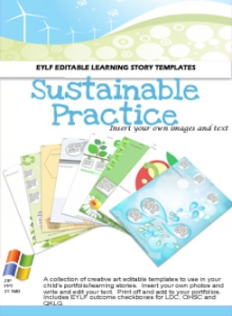 EYLF Sustainable Practice Portfolio Pack