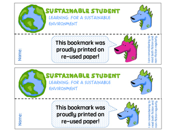 Sustainable Student Bookmarks