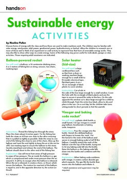 Science sustainable energy activities. Energy past and present.