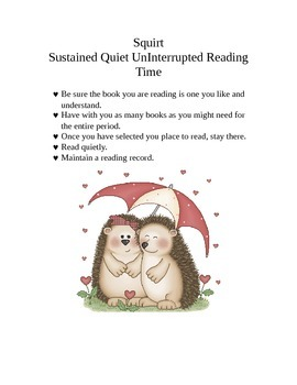 Sustained Quiet Un-Interrupted Reading Time Poster