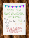 Sustained Silent Reading & Accountable Talk Bookmarks