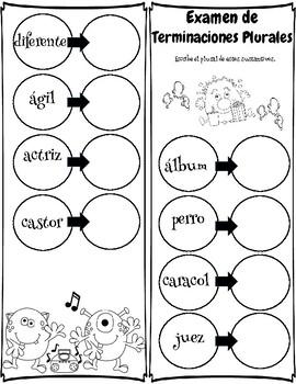 Sustantivo Plurales