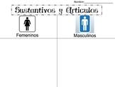 Sustantivo y Articulo ( Masculino o Femenino) Noun & Article Spanish