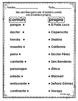 Sustantivos Comunes y Propios