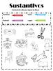 Sustantivos (Distribuye y Colorea)