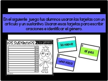 Sustantivos Masculinos y Femeninos (Nouns in Spanish)