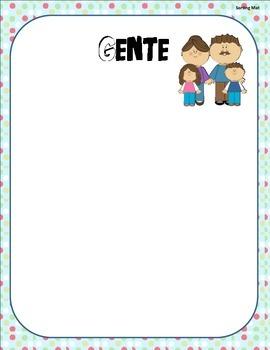 Sustantivos /Noun Sort Center with pictures (Spanish)