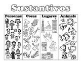 Sustantivos Poster/Worksheet