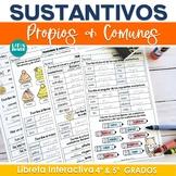 Sustantivos Propios & Comunes Libreta Interactiva